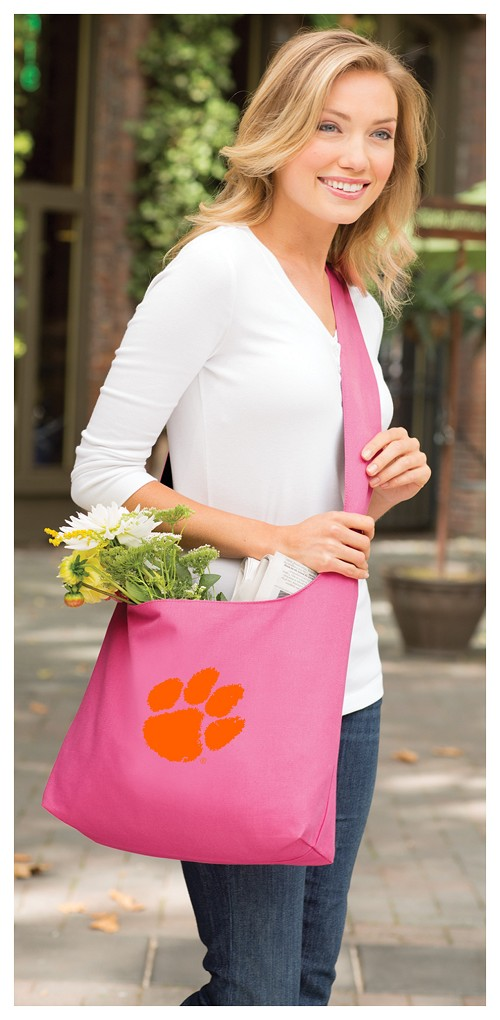 Clemson Tote Bag Sling Style Pink