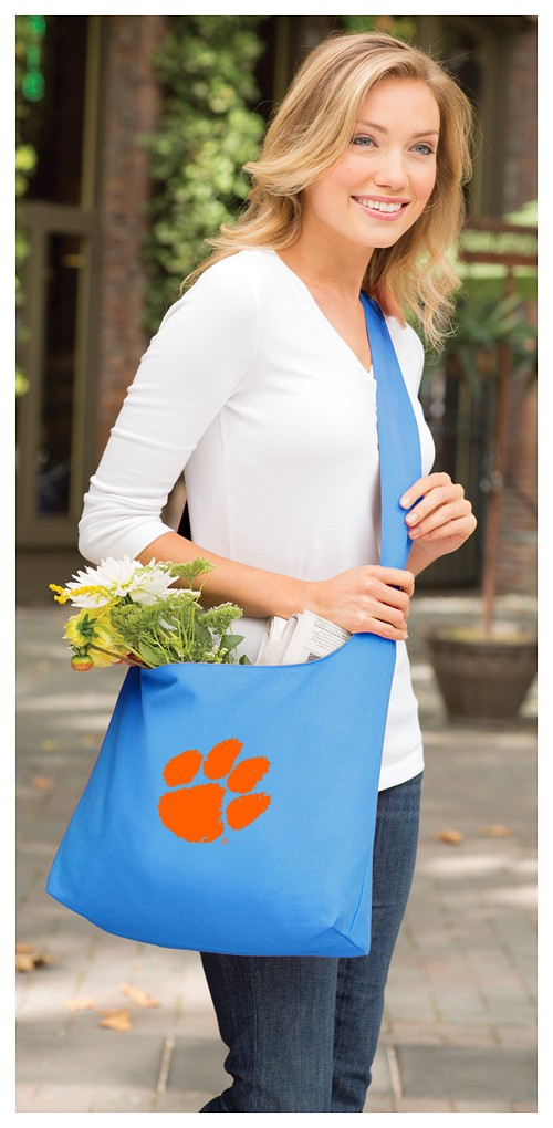 Clemson Tote Bag Sling Style Teal