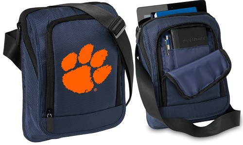 Clemson Tablet or Ipad Shoulder Bag Navy