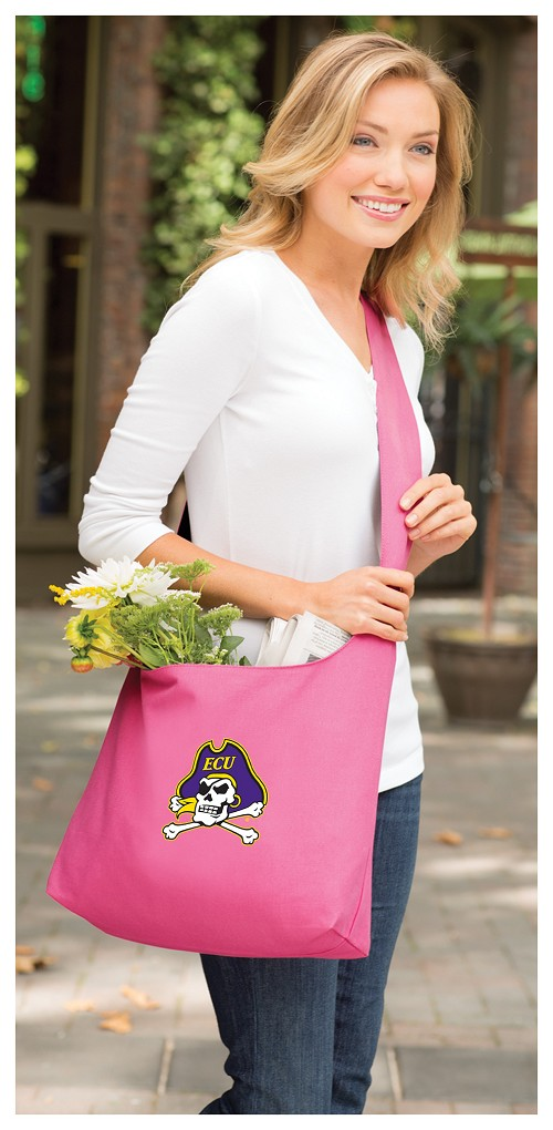 ECU Pirates Tote Bag Sling Style Pink
