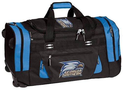 Georgia Southern Rolling Duffel Bag Suitcase