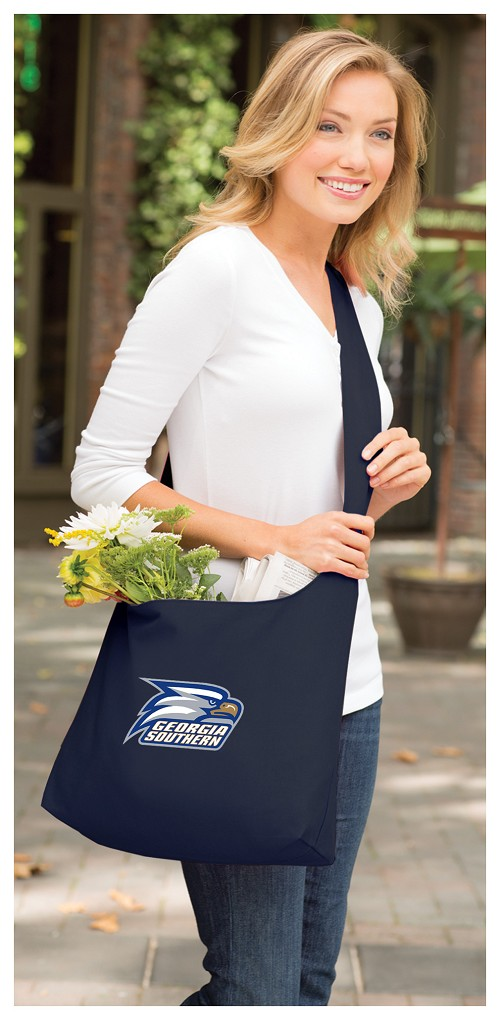 Georgia Southern Tote Bag Sling Style Navy