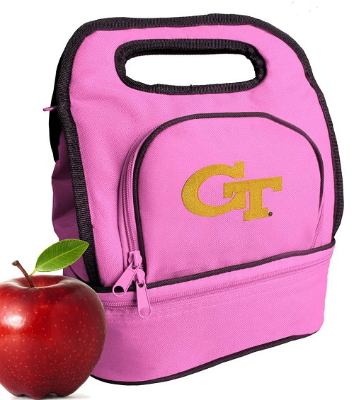 Georgia Tech Lunch Bag Pink