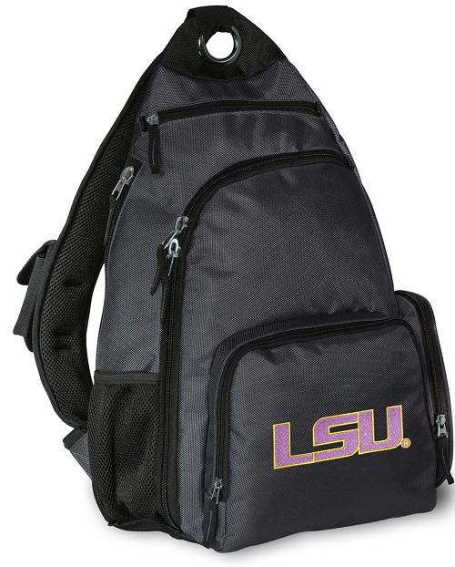 LSU Tigers Backpack Cross Body Style Gray