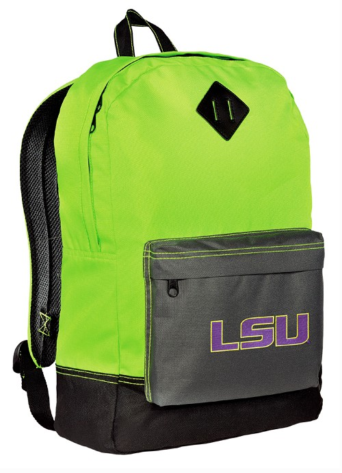 LSU Tigers Backpack Classic Style Fashion Green