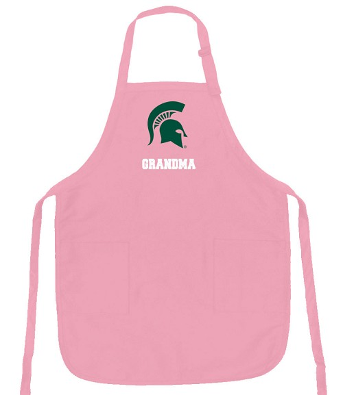 Michigan State Grandma Apron Pink - MADE in the USA!