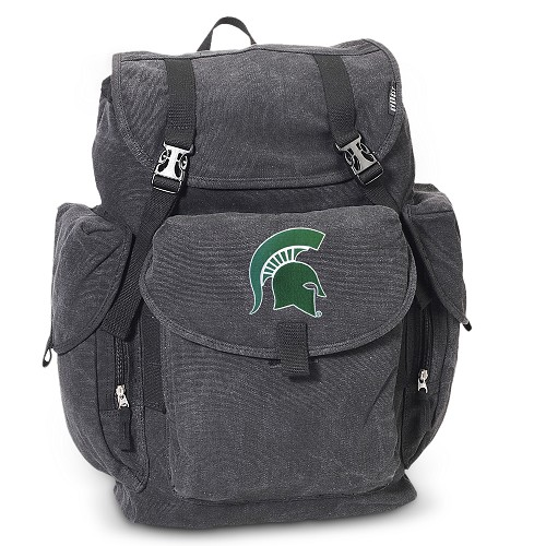 Michigan State LARGE Canvas Backpack Black