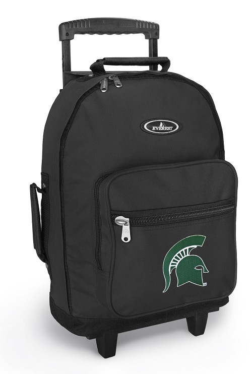 Michigan State Rolling Backpacks Black