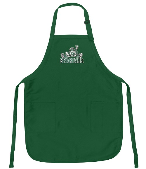 Michigan State Peace Frog Logo Apron