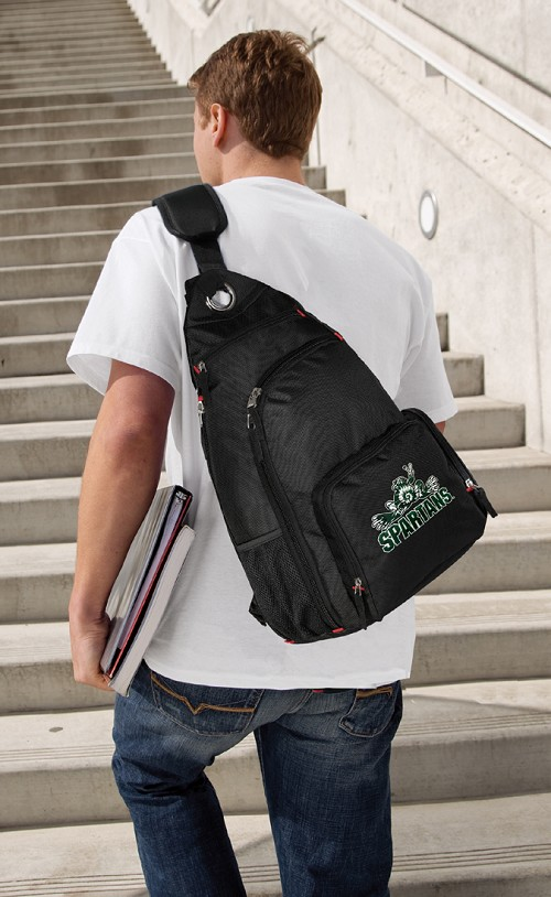 Michigan State Peace Frog Backpack Cross Body Style