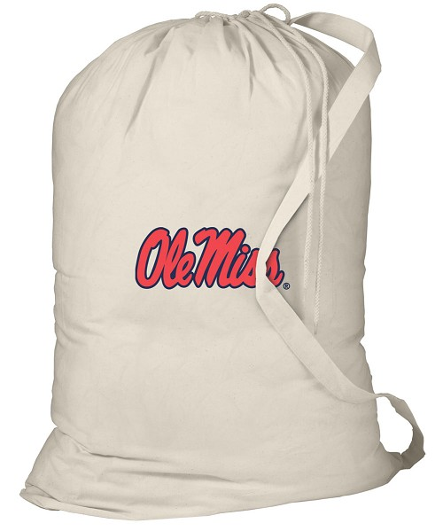 Ole Miss Laundry Bag Natural