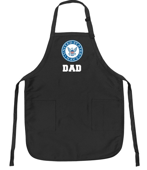 Official NAVY DAD Apron Black