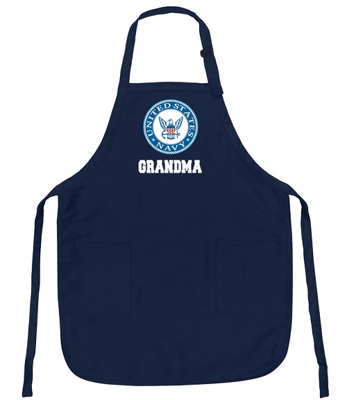 Official NAVY Grandma Aprons Navy