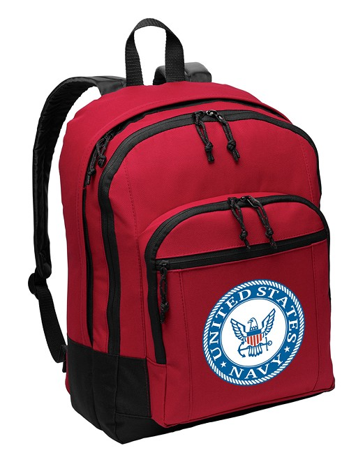 United States Navy Backpack CLASSIC STYLE Red
