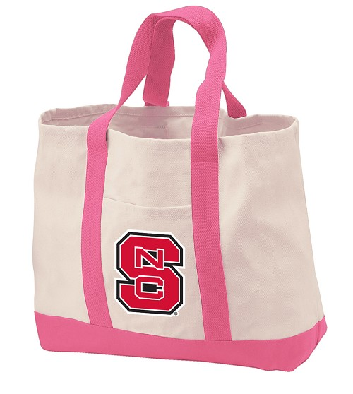 NC State Tote Bags Pink