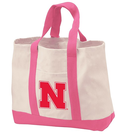 University of Nebraska Tote Bags Pink