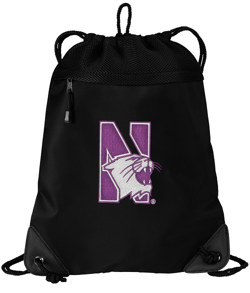 Northwestern University Drawstring Backpack-MESH & MICROFIBER