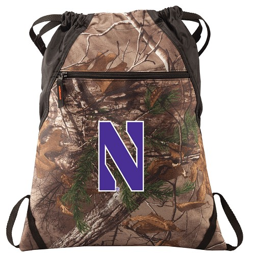 Northwestern University RealTree Camo Cinch Pack
