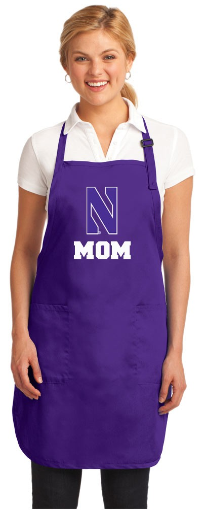 Northwestern University Mom Apron Purple - MADE in the USA!