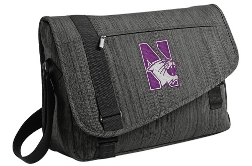 Northwestern University Messenger Laptop Bag Stylish Charcoal