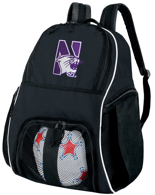 Northwestern University Ball Backpack Bag