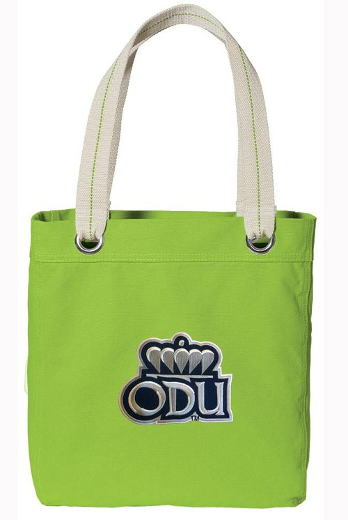 Old Dominion Tote Bag RICH COTTON CANVAS Green