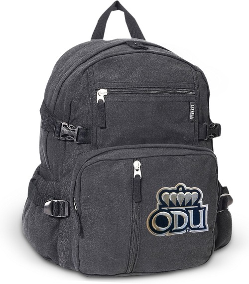 ODU Monarchs Canvas Backpack Black