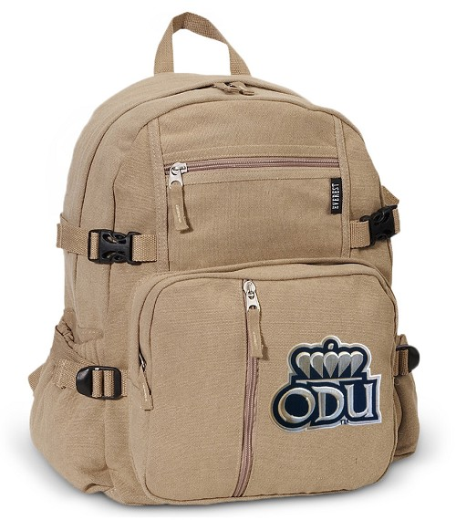 Old Dominion University Canvas Backpack Tan
