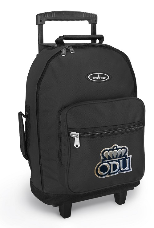 ODU Monarchs Rolling Backpacks Black