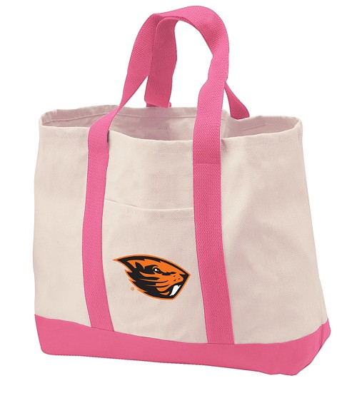 Oregon State University Tote Bags Pink