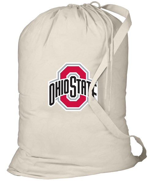 OSU Ohio State Buckeyes Laundry Bag Natural