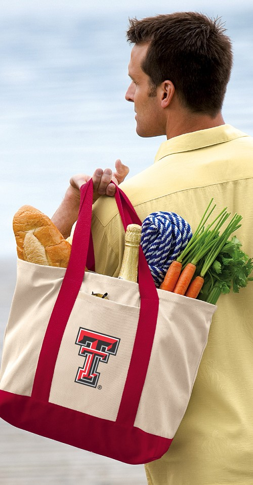 Texas Tech Tote Bag Red