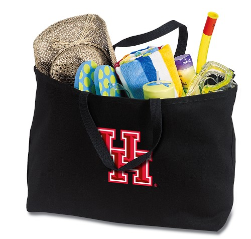 University of Houston Jumbo Tote Bag Black