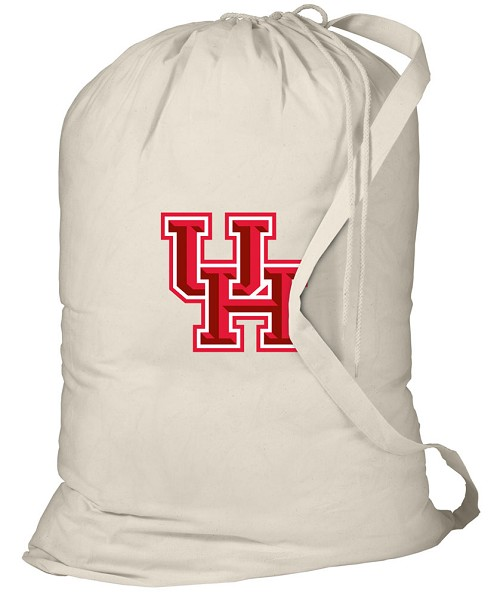 University of Houston Laundry Bag Natural