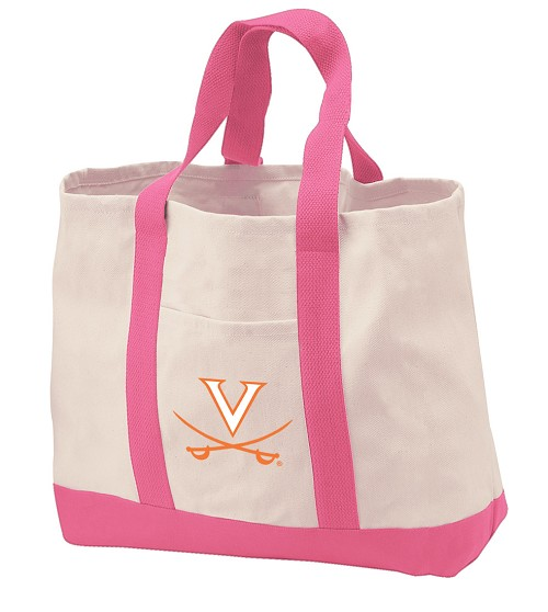 University of Virginia Tote Bags Pink