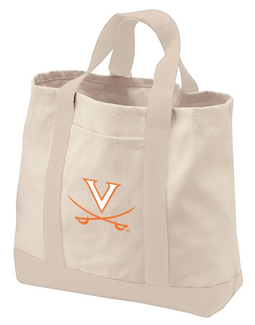 University of Virginia Tote Bags NATURAL CANVAS