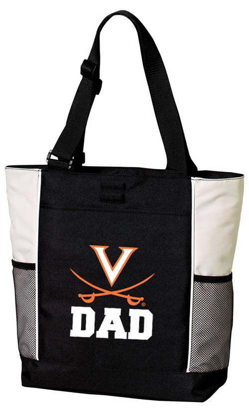 UVA Dad Tote Bag White Accents