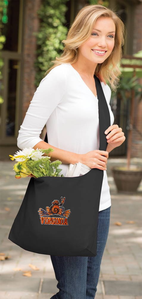 UVA Peace Frog Tote Bag Sling Style Black