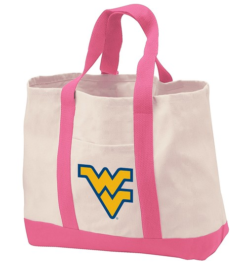West Virginia University Tote Bags Pink