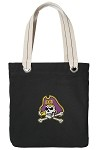 ECU Pirates Black Cotton Tote Bag