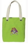 ECU Pirates NEON Green Cotton Tote Bag