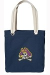 ECU Pirates Rich NAVY Cotton Tote Bag