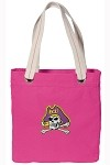 ECU Pirates NEON PINK Cotton Tote Bag