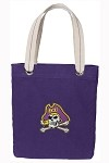ECU Pirates Rich Purple Cotton Tote Bag
