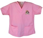 ECU Pirates Pink Scrubs Tops SHIRT