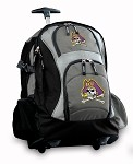 ECU Pirates Rolling Backpack Deluxe Gray