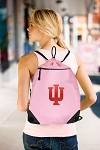IU Indiana University Pink Drawstring Bag Backpack