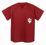 IU Indiana University Scrubs Top Shirt-