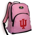 IU Indiana University Backpack Pink