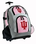 IU Indiana University Rolling Backpack Deluxe Pink